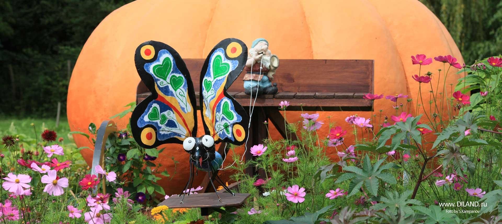 садовый декор тыква