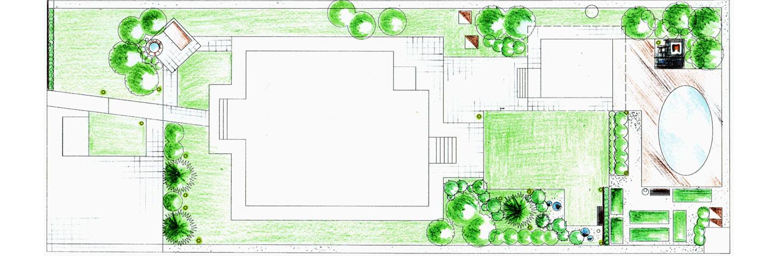 Ландшафтный дизайн узкого участка