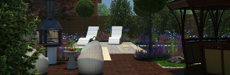 зоны отдыха в саду