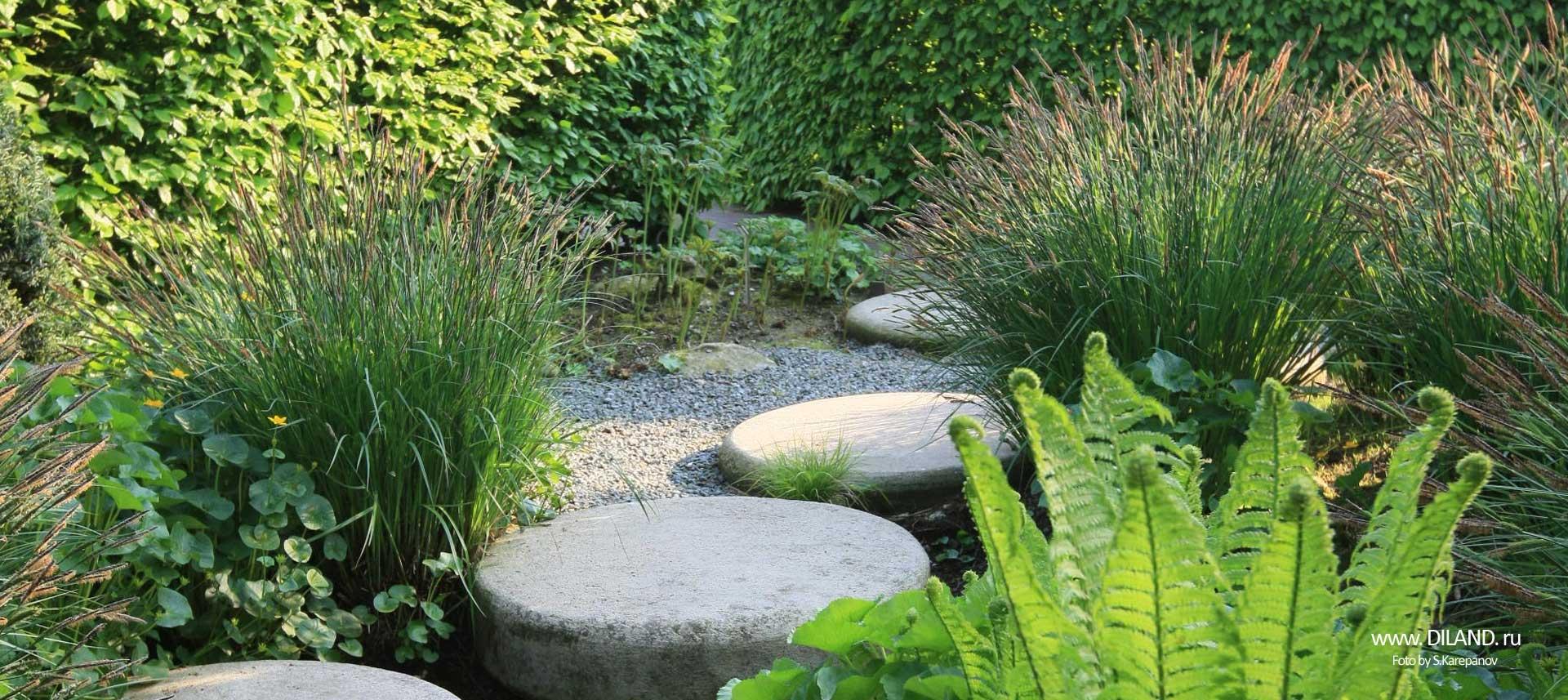 ландшафтный дизайн камни для клумб